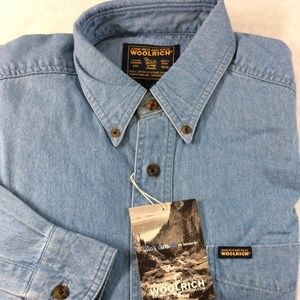 Woolrich JOHN RICH & BROS Mens Medium Denim Shirt